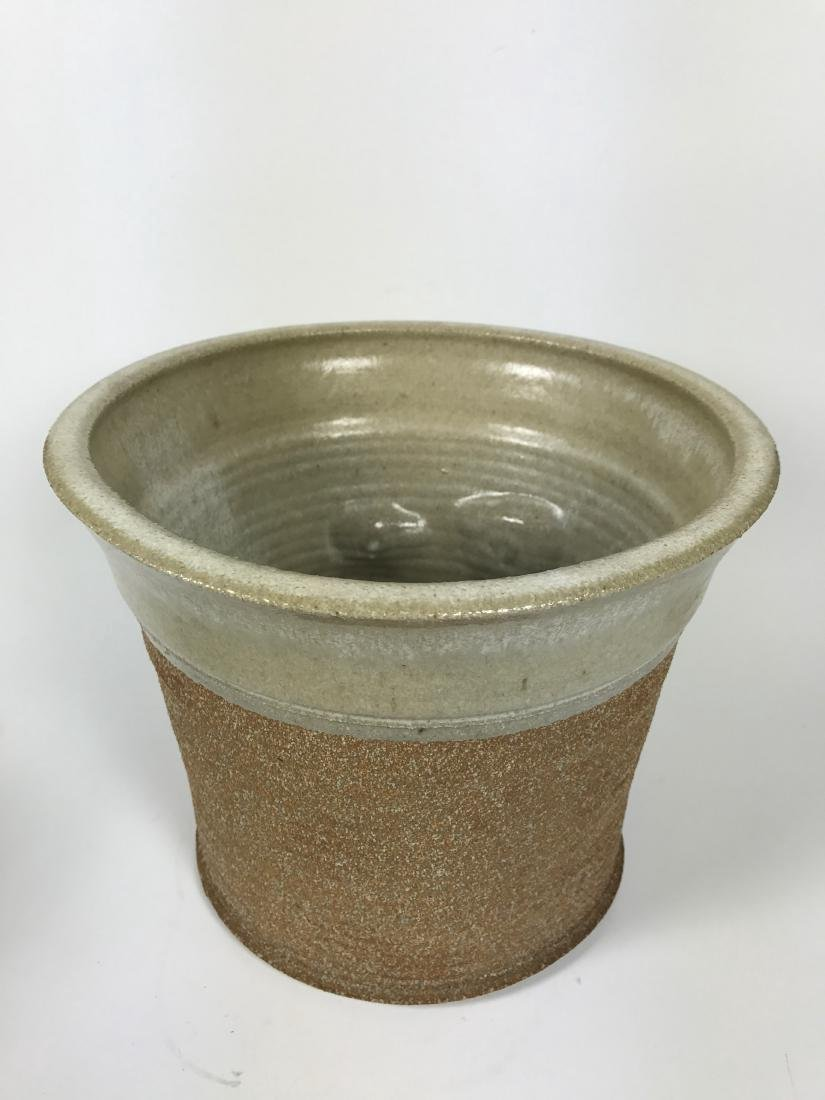 Brown Ceramics Planter with Face - 4