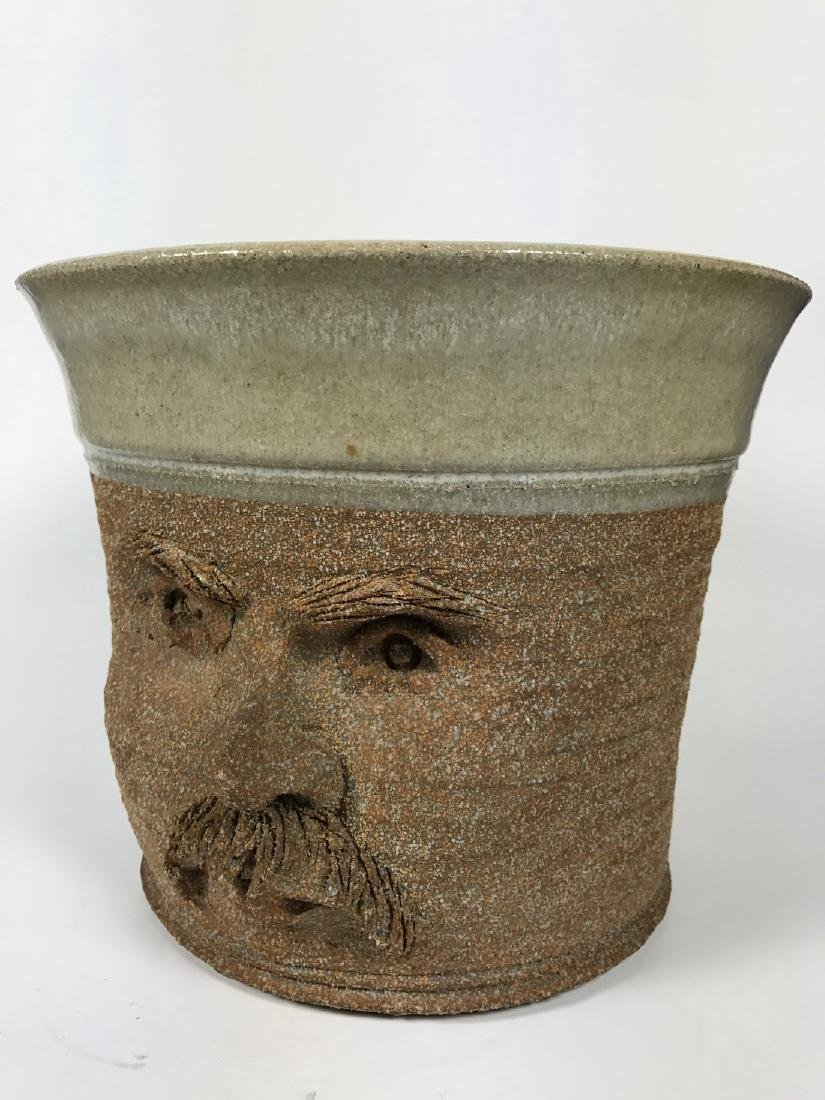 Brown Ceramics Planter with Face - 5