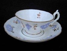 Pair Of English Sprigged Teacups, C 1830