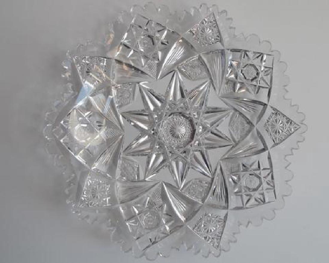 American Brilliant Period Cut Glass Plate - 2
