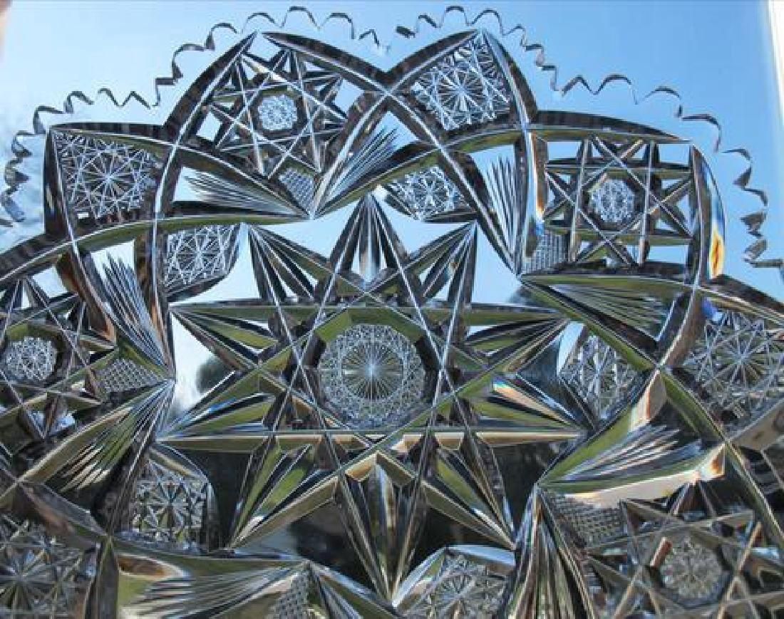 American Brilliant Period Cut Glass Plate - 3