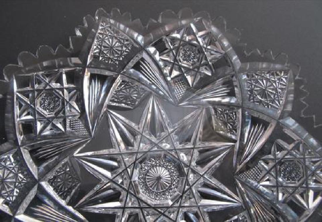 American Brilliant Period Cut Glass Plate - 4