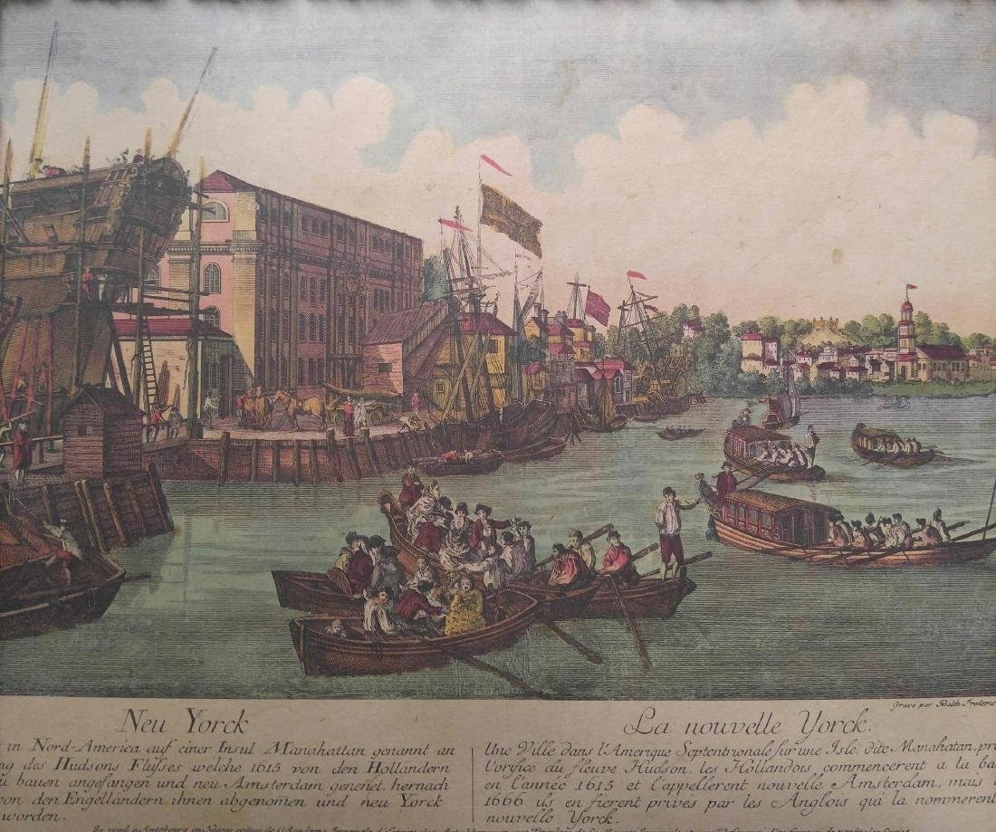 French Vintage Color Print Of New York - 2