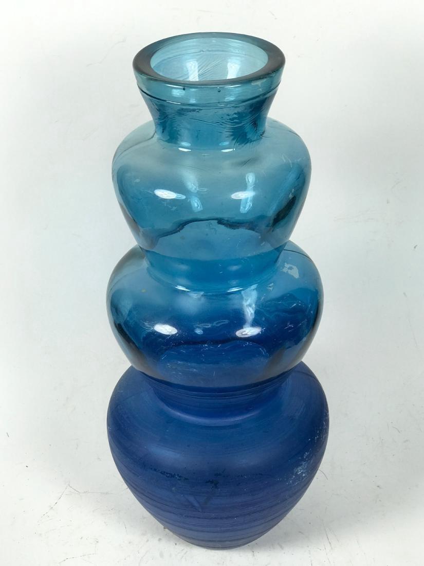 Italian Blue Colour Flower Vase - 2