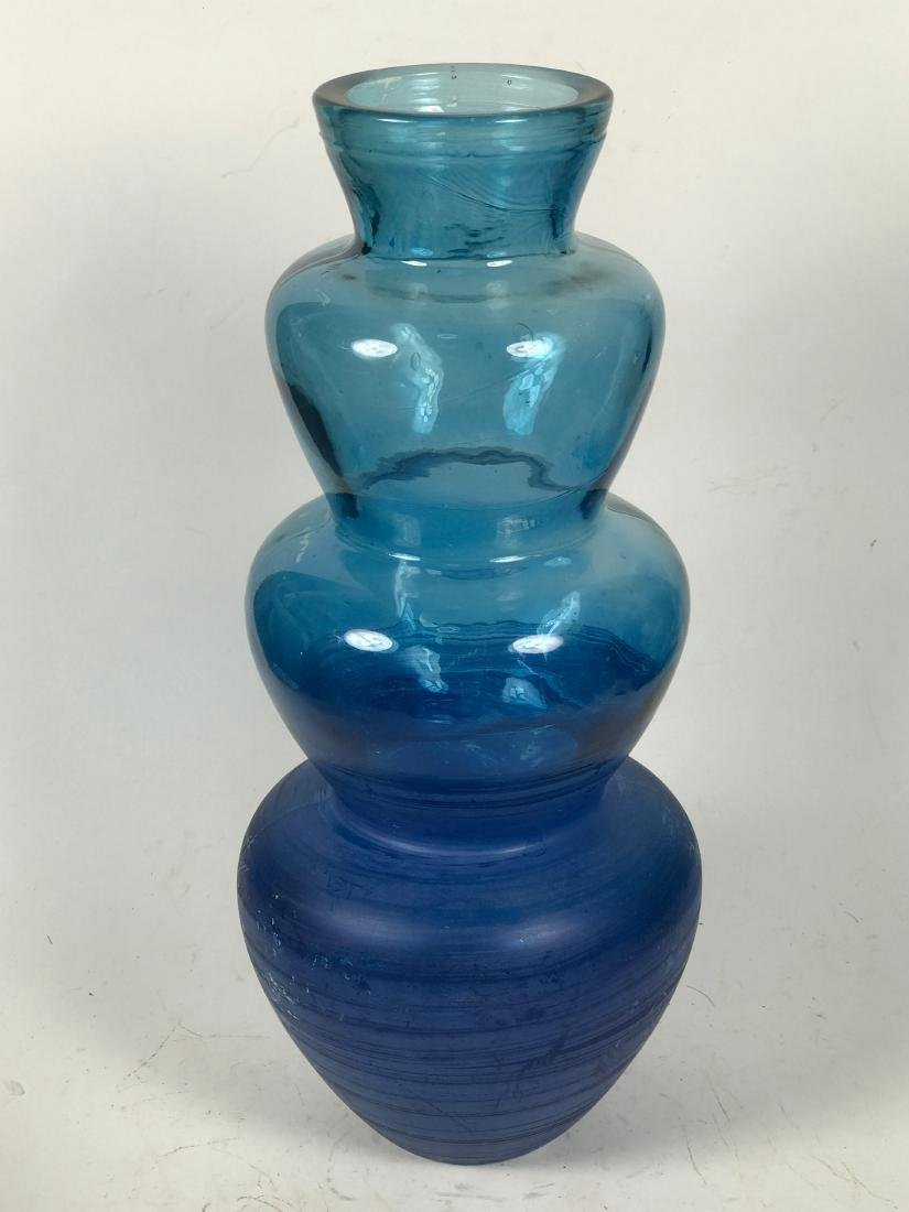 Italian Blue Colour Flower Vase - 3
