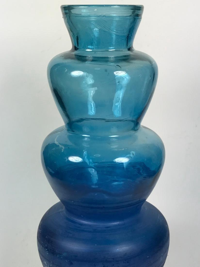 Italian Blue Colour Flower Vase - 4