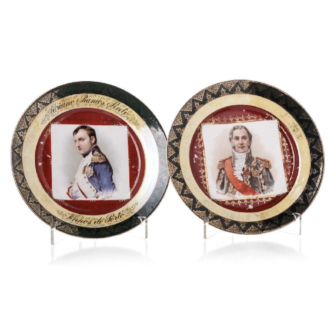 Pair of plates 'Marechal Lefebure and Napoleon'