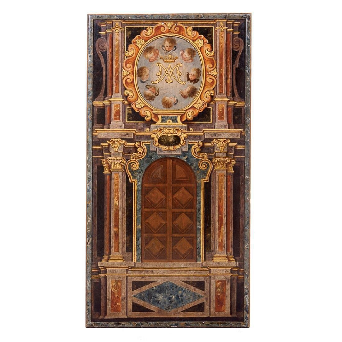 Mariano Panel Painted Trompe L'oeil