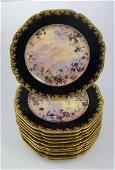 12 Antique Haviland & Co. Limoges Dessert Plates c1880s