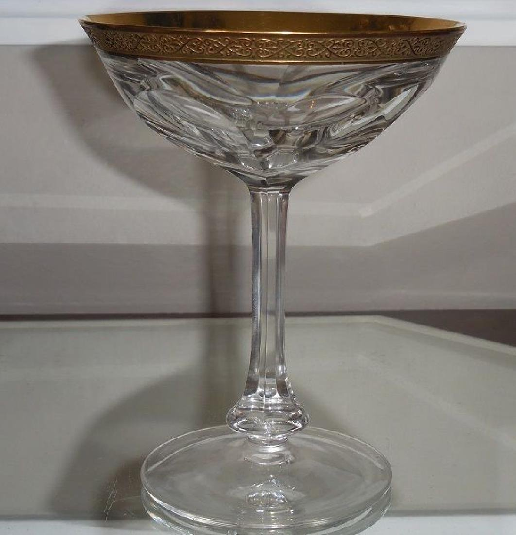 Antique Moser Gold Champagne Stem Coupe Lady Hamilton