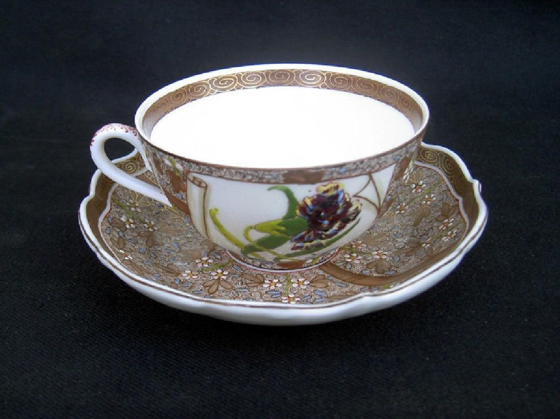 Cup & Saucer by Vilmos Fischer, Herend, 1880's - 3