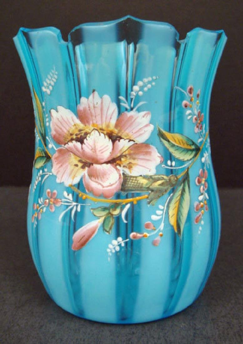 Victorian Enameled Art Glass Vase