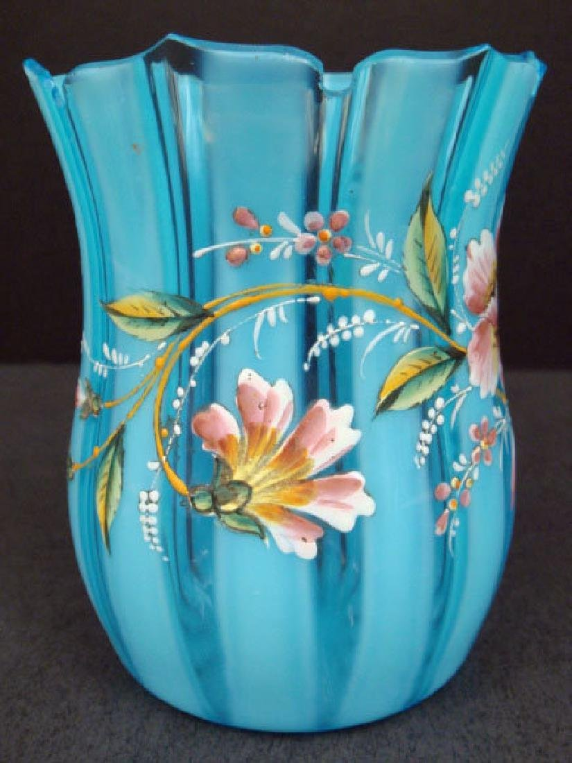 Victorian Enameled Art Glass Vase - 3