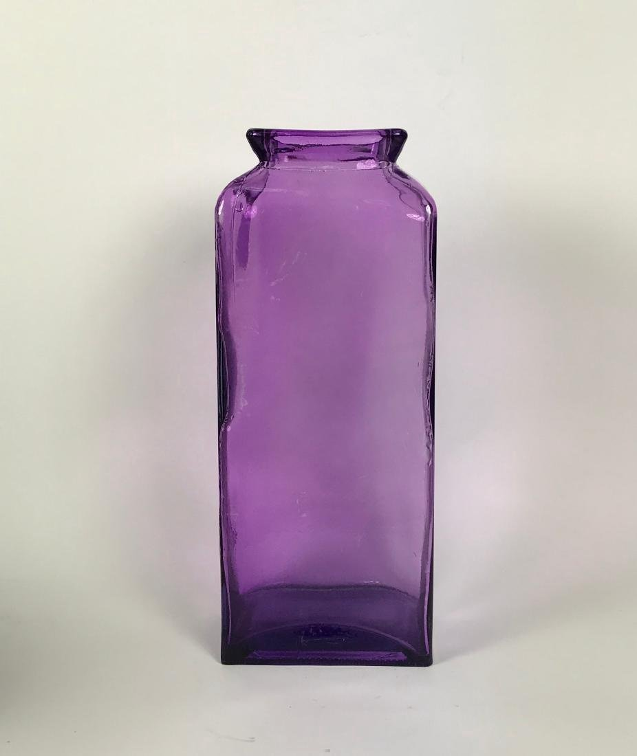 Italian Violet Colour Glass Flower Vase