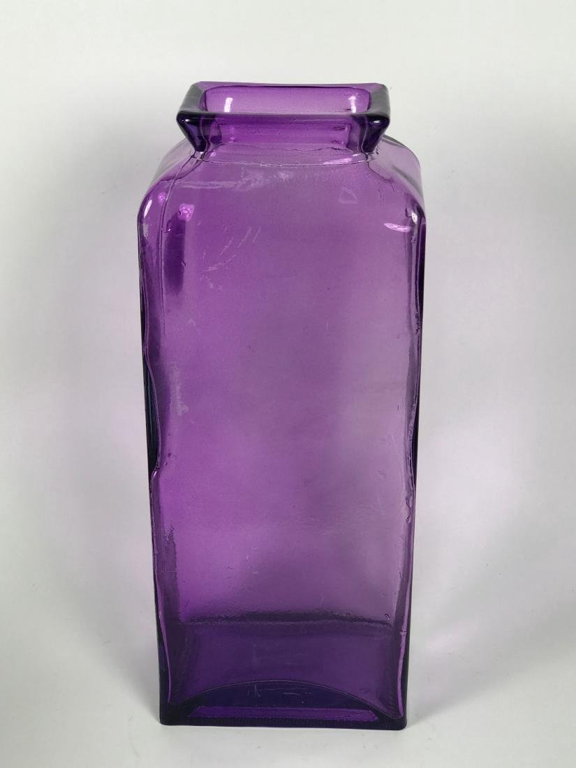 Italian Violet Colour Glass Flower Vase - 3