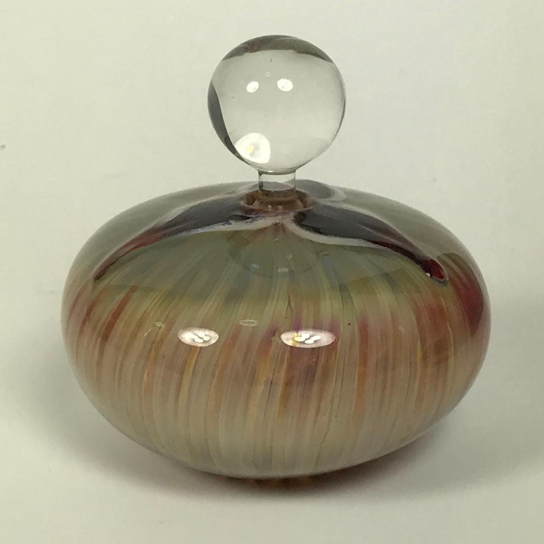 Hand Blown Multi Colour Perfume Round Bottle - 2