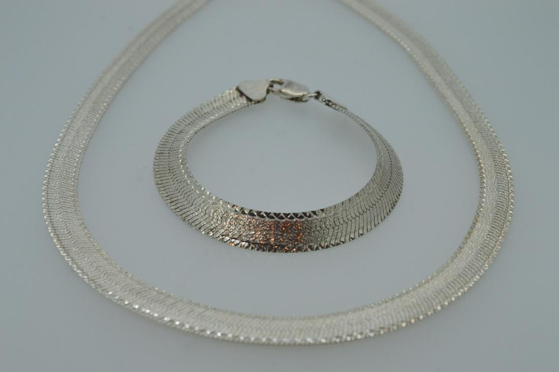 Sterling Silver Necklace and Bracelet Duo