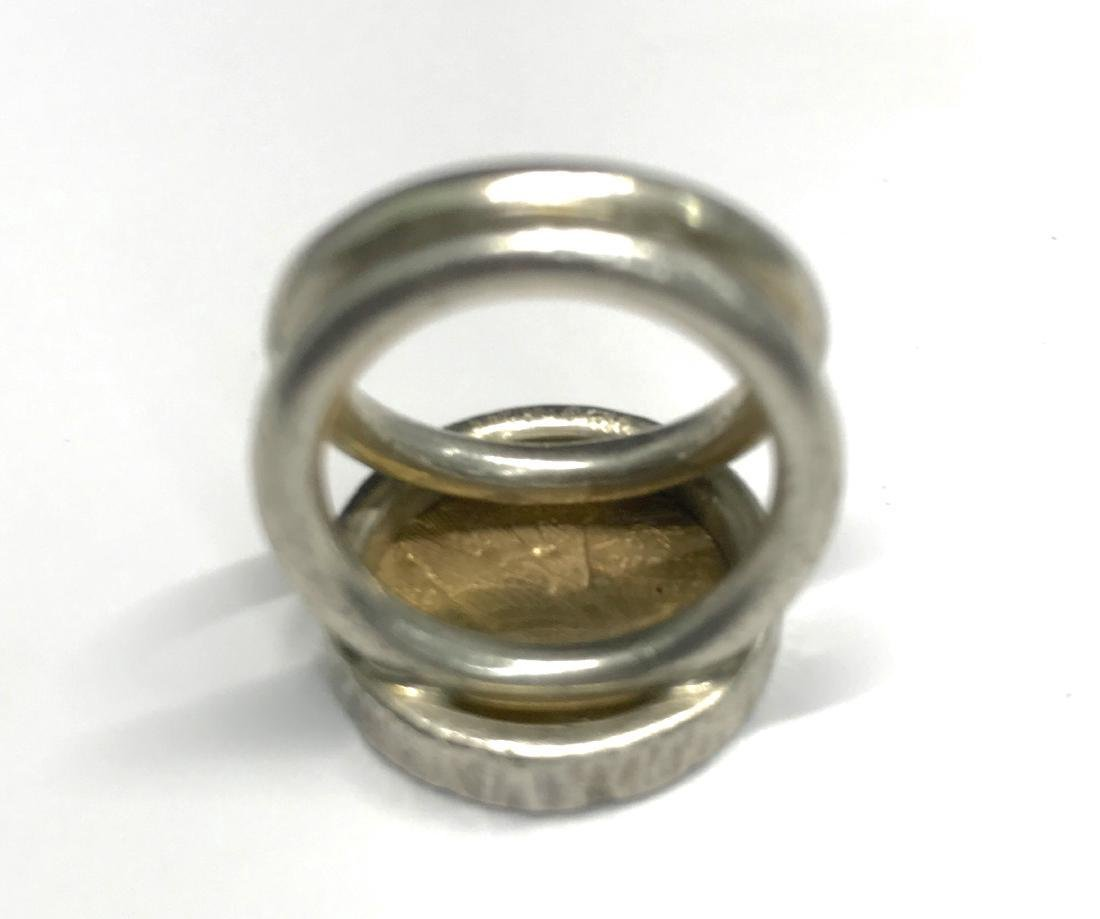 Sterling Silver Us Gold Indian Head Ring - 3