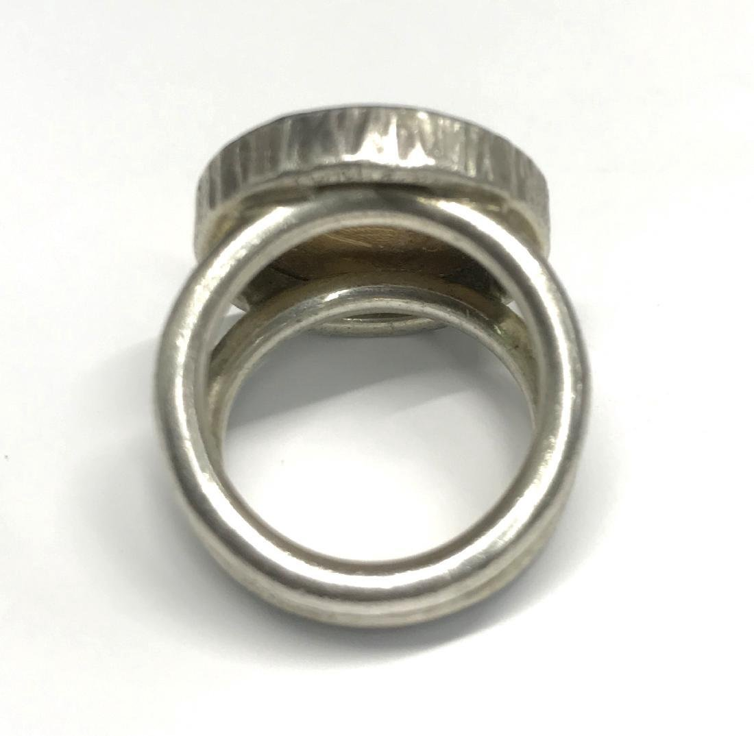 Sterling Silver Us Gold Indian Head Ring - 5