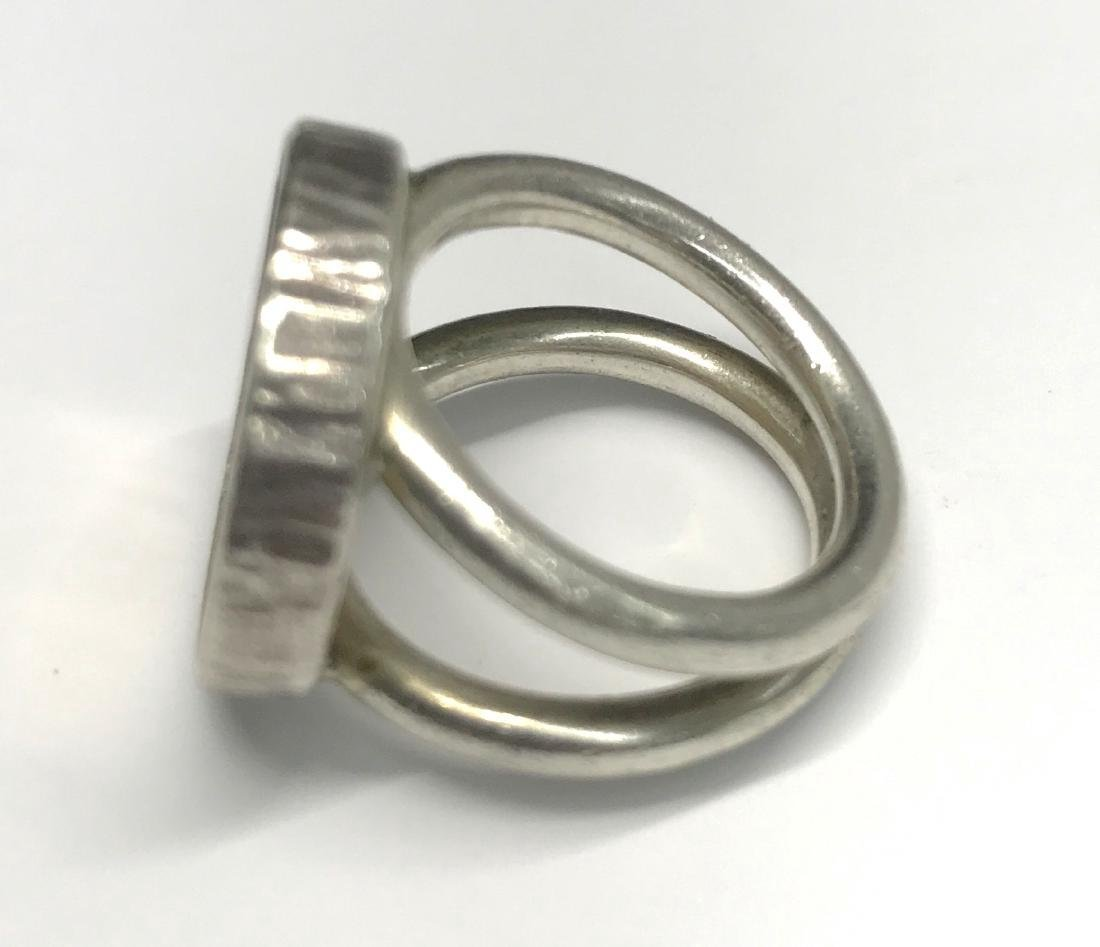 Sterling Silver Us Gold Indian Head Ring - 6