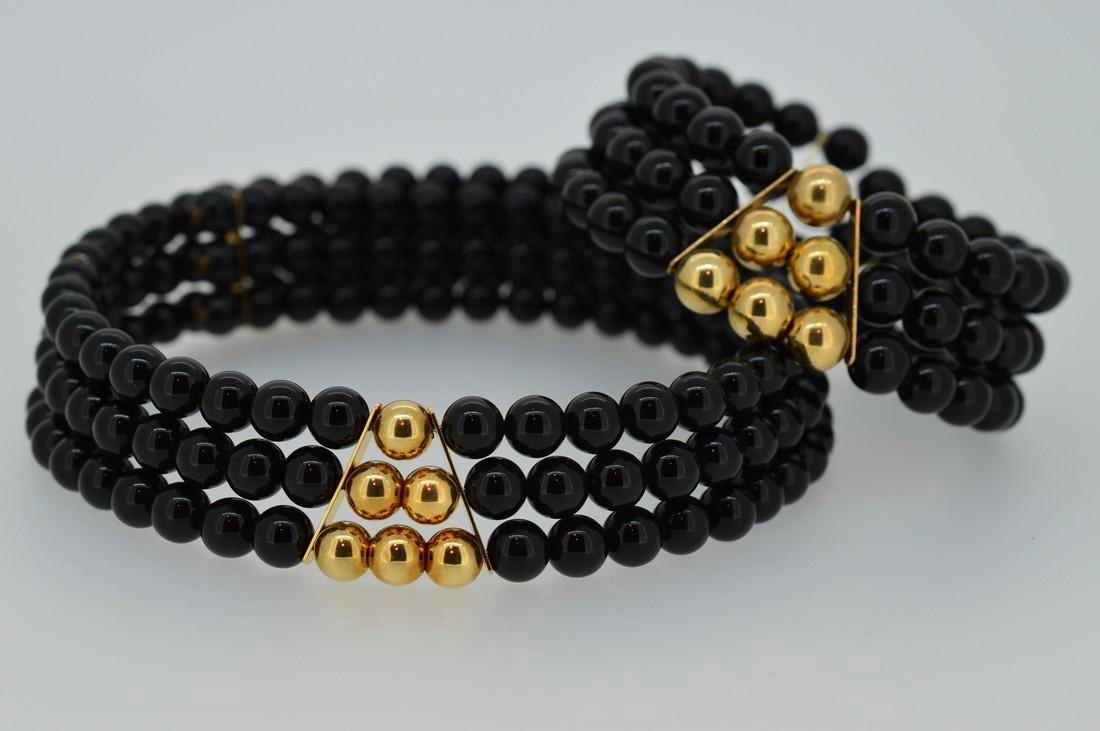 Black Onyx Choker and Bracelet