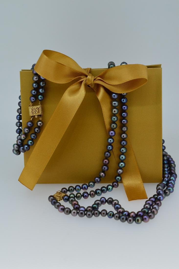 Rainbow Tahitian Necklace and Bracelet Set - 2