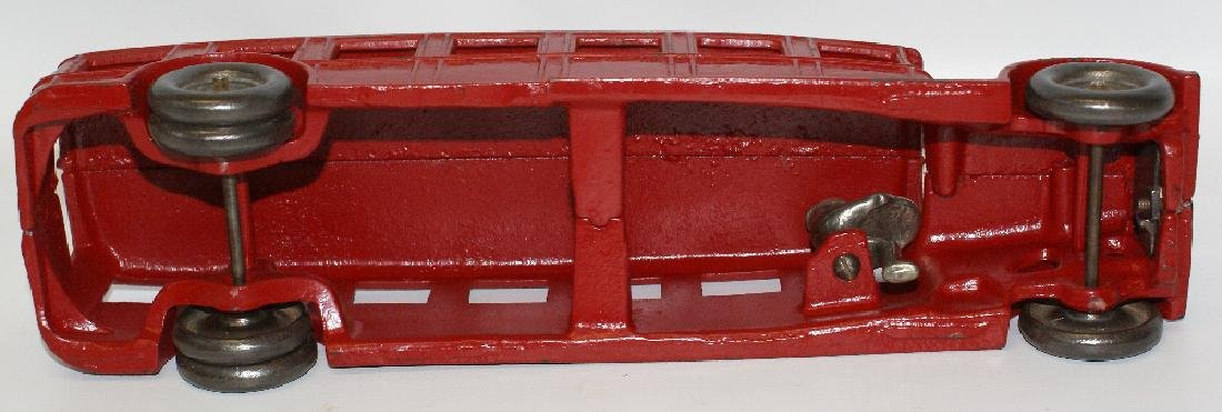 "Vintage 1925 Large 12"" Red ARCADE Cast Iron FAGEOL Toy - 6"