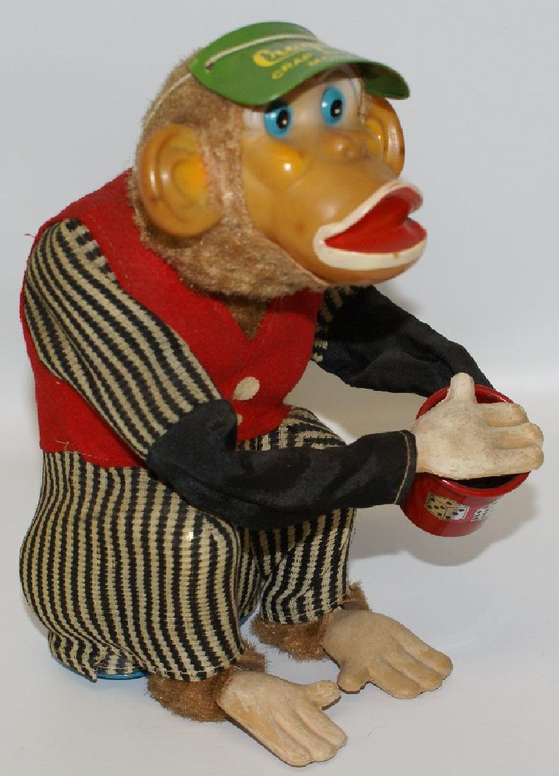 Vintage 1950's CRAGSTAN (Japan) Crap Shooting Monkey