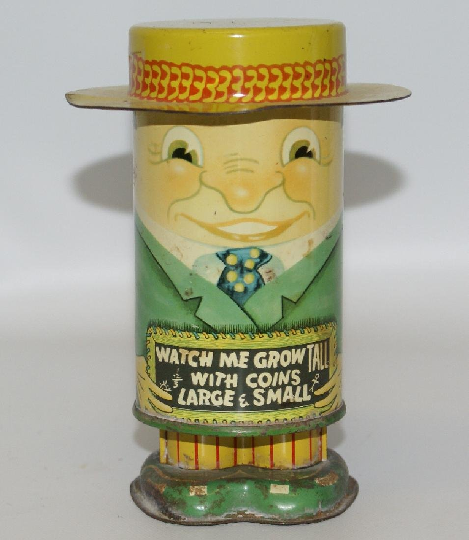 Vintage 1950's Sammy Laughing Man Mechanical Coin Bank
