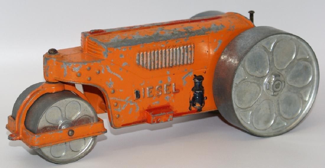 Vintage Diecast HUBLEY Kid Toy #480 DIESEL STEAMROLLER