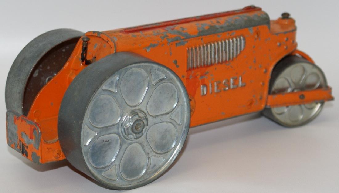 Vintage Diecast HUBLEY Kid Toy #480 DIESEL STEAMROLLER - 2