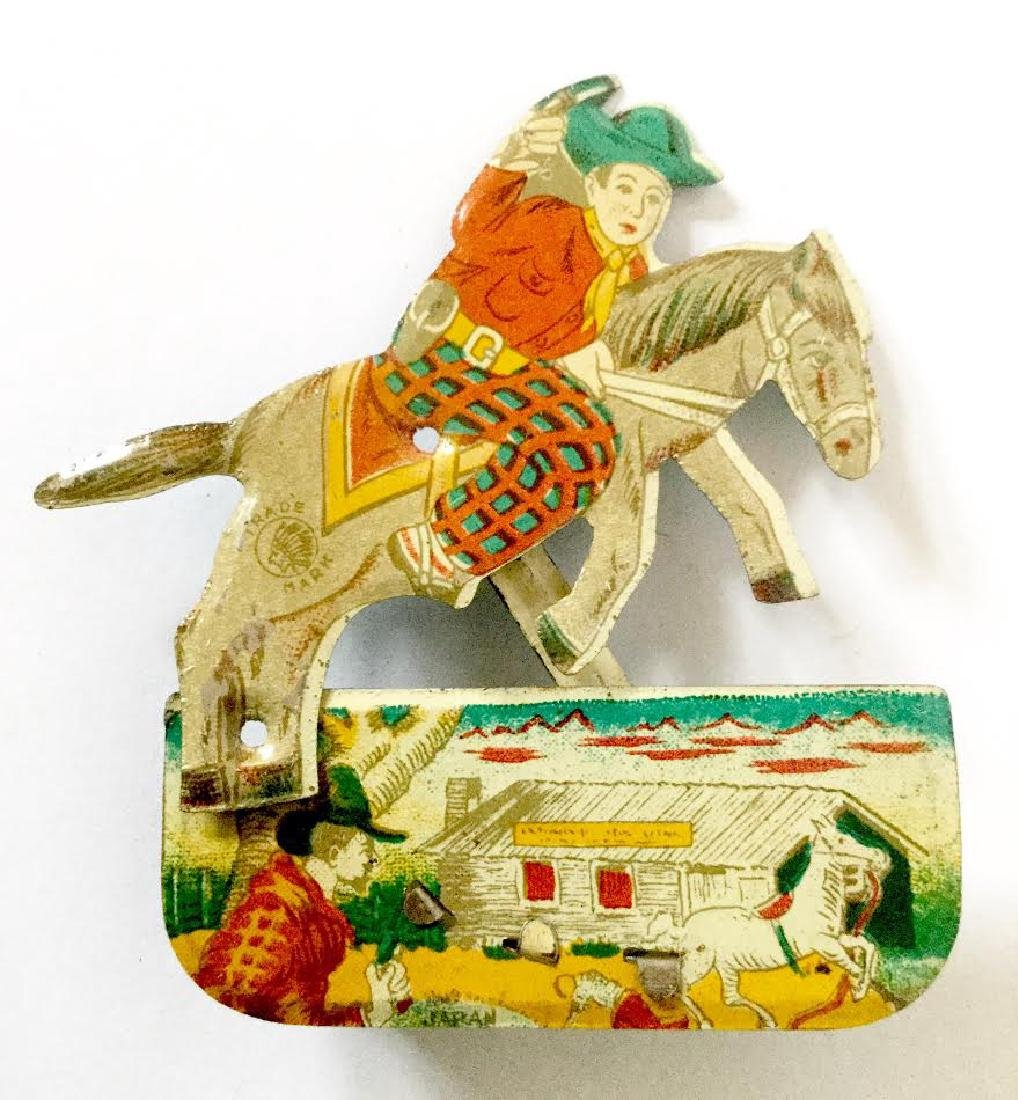 Tin Litho Cowboy Clicker Toy - 4
