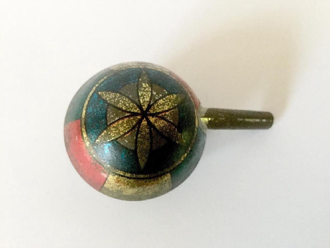 Early Tin Whistle with Star Design - 4