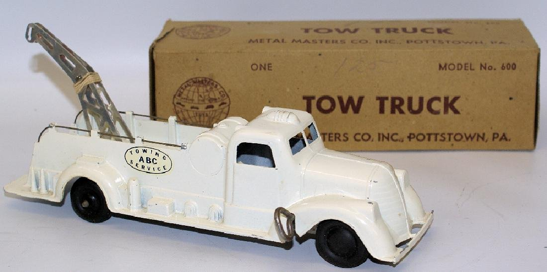 Vintage 1938 Wind-up METAL MASTERS #600 ABC Tow Truck