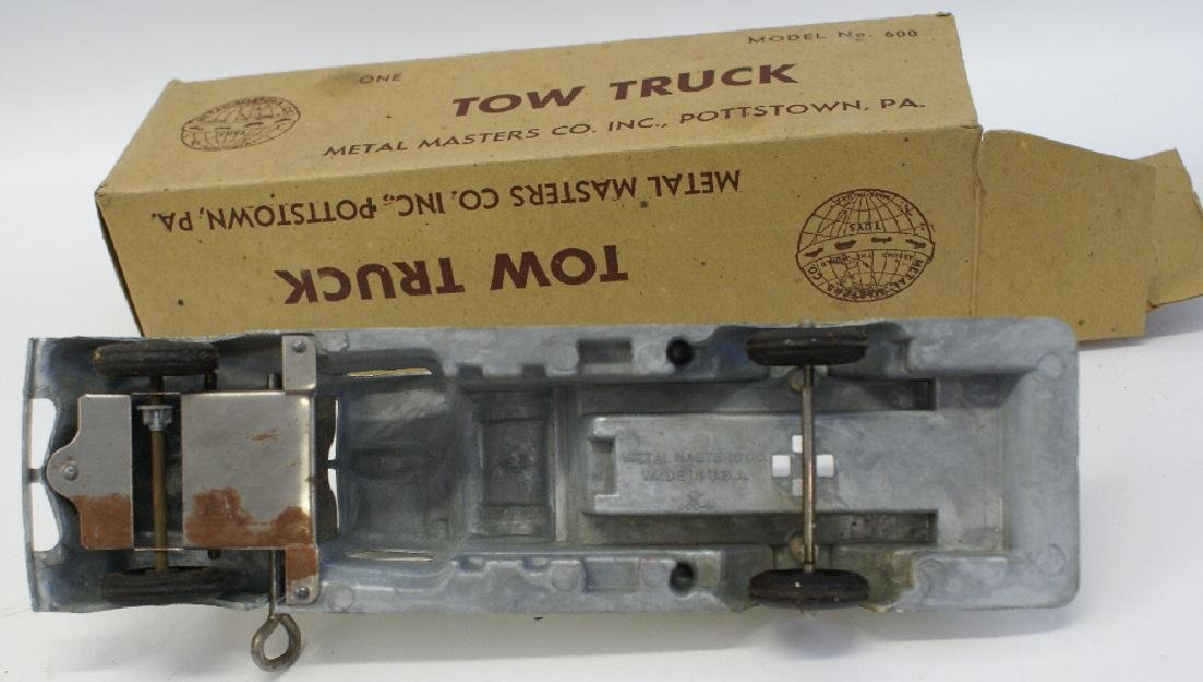 Vintage 1938 Wind-up METAL MASTERS #600 ABC Tow Truck - 3