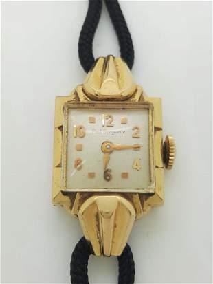 A Vintage 14k Yellow Gold Ladies Watch Paul Breguette