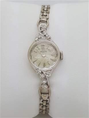 Paul Breguette 14k White Gold Diamond Ladies Watch