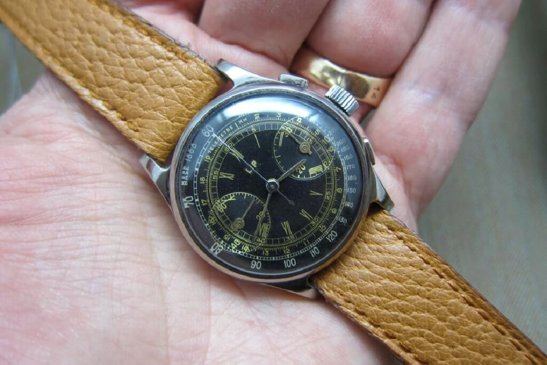 Lip Vintage Chronograph Gilt Dial 1950s Watch