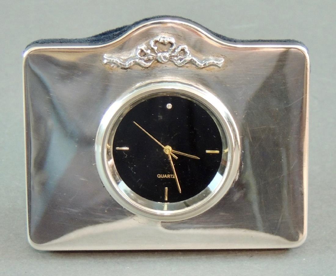 GK&CK London Sterling Table Clock
