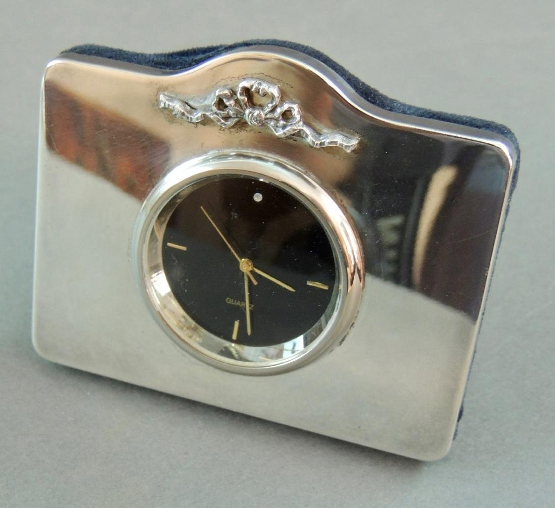 GK&CK London Sterling Table Clock - 2