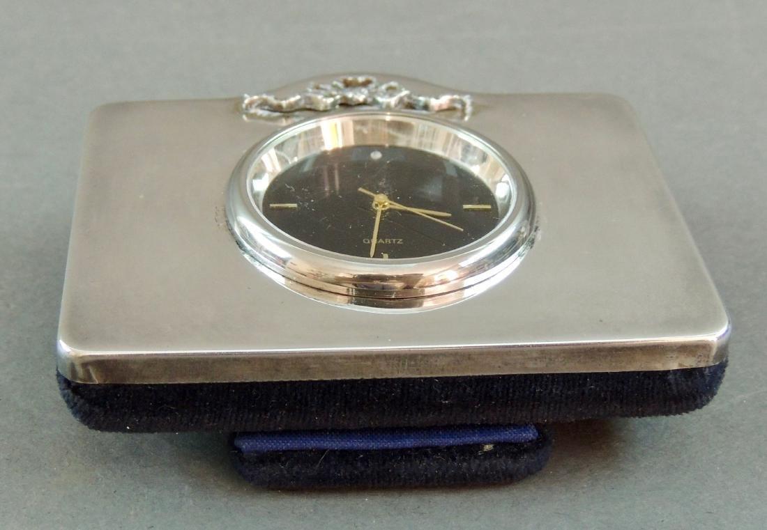 GK&CK London Sterling Table Clock - 8