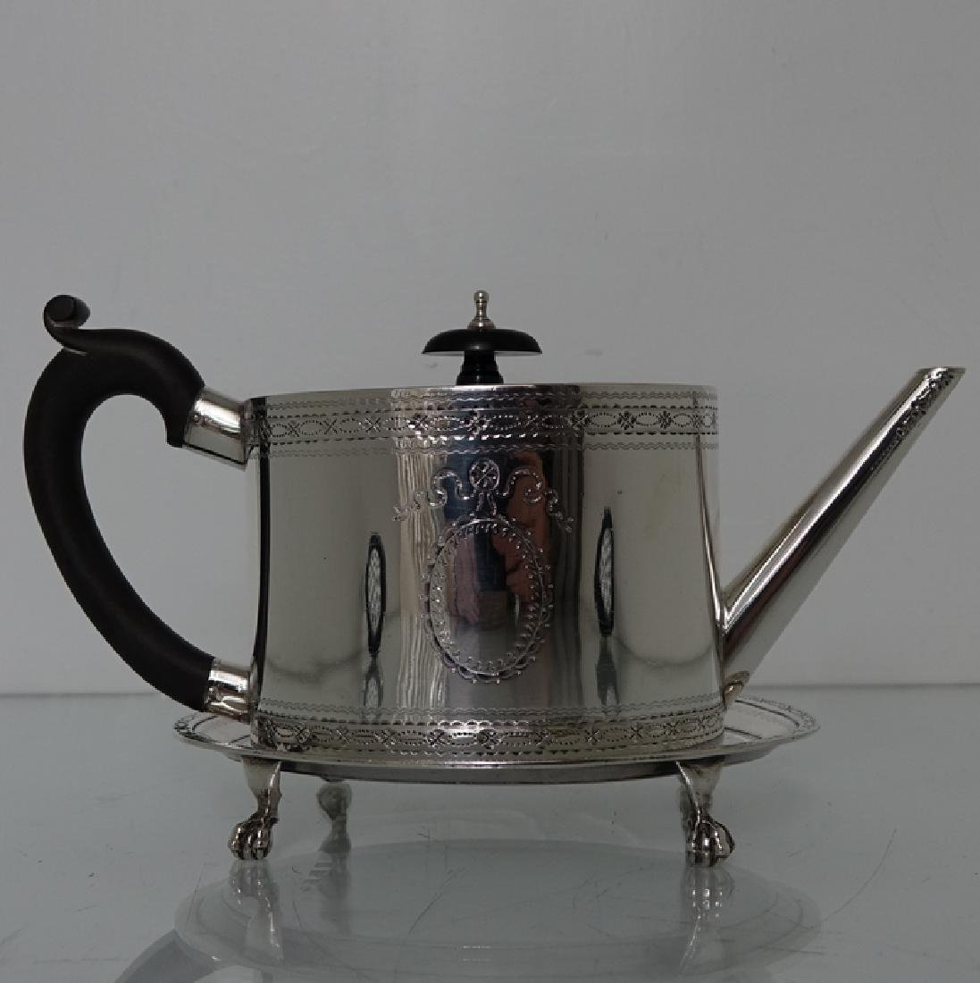 18th Cent. Sterling Silver George III Teapot & Stand