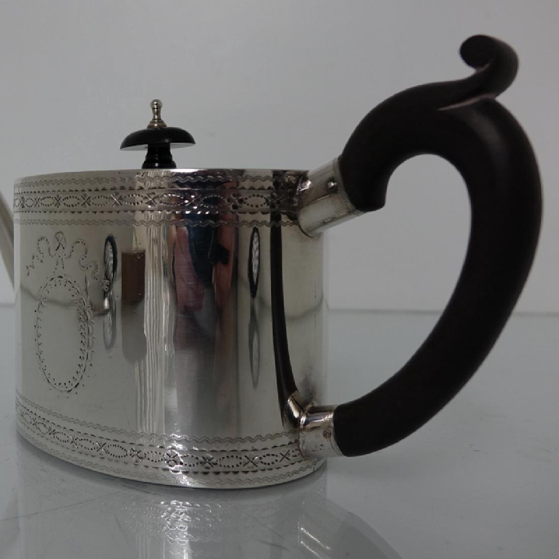 18th Cent. Sterling Silver George III Teapot & Stand - 3