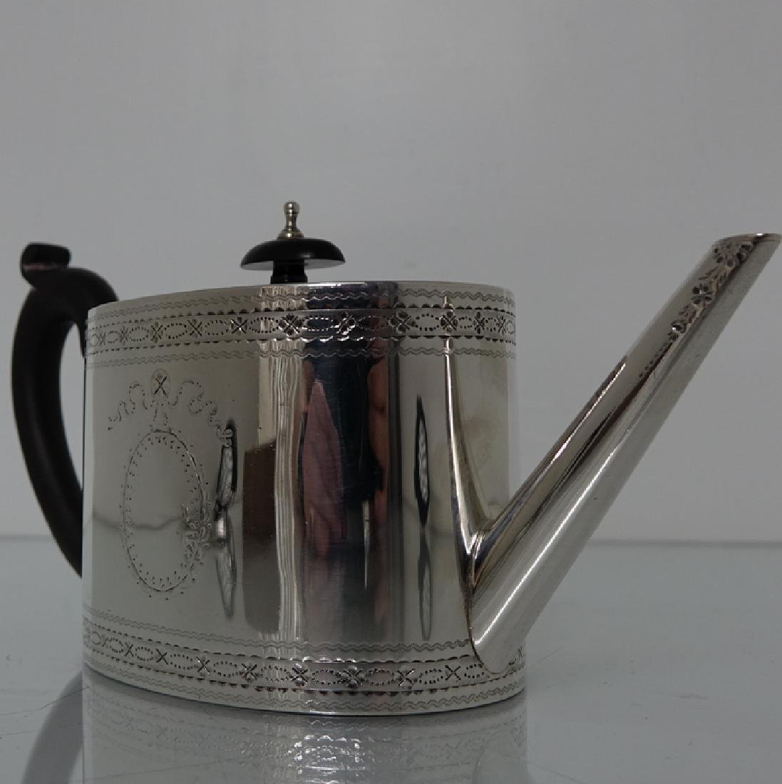 18th Cent. Sterling Silver George III Teapot & Stand - 4