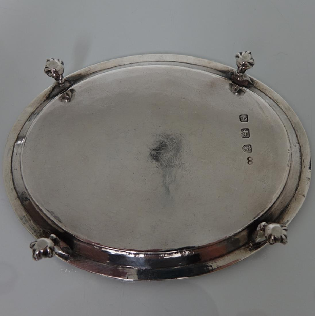 18th Cent. Sterling Silver George III Teapot & Stand - 9