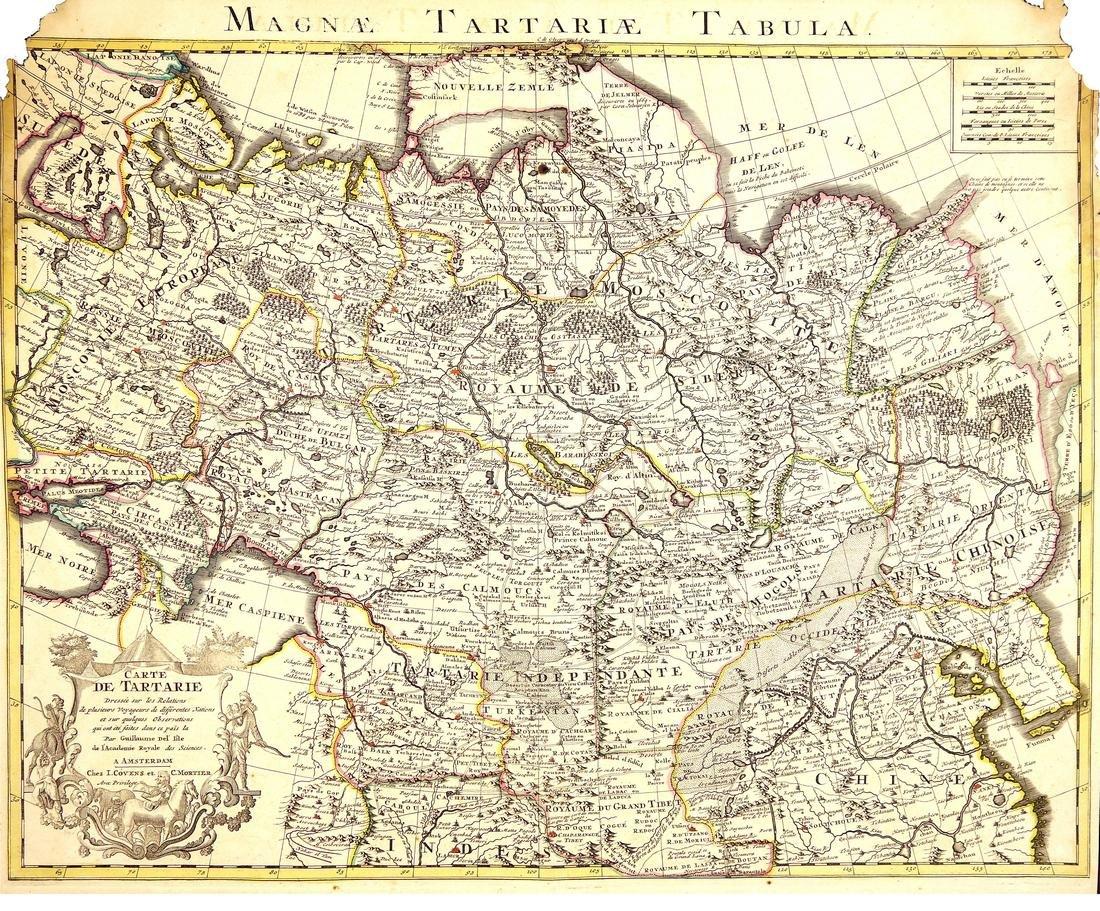 Carte De Tartarie (Magnae Tartariae Tabula) 1750