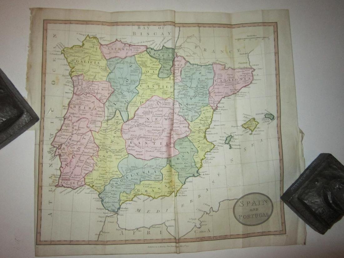 Cruttwell: Map of Spain and Portugal, 1797