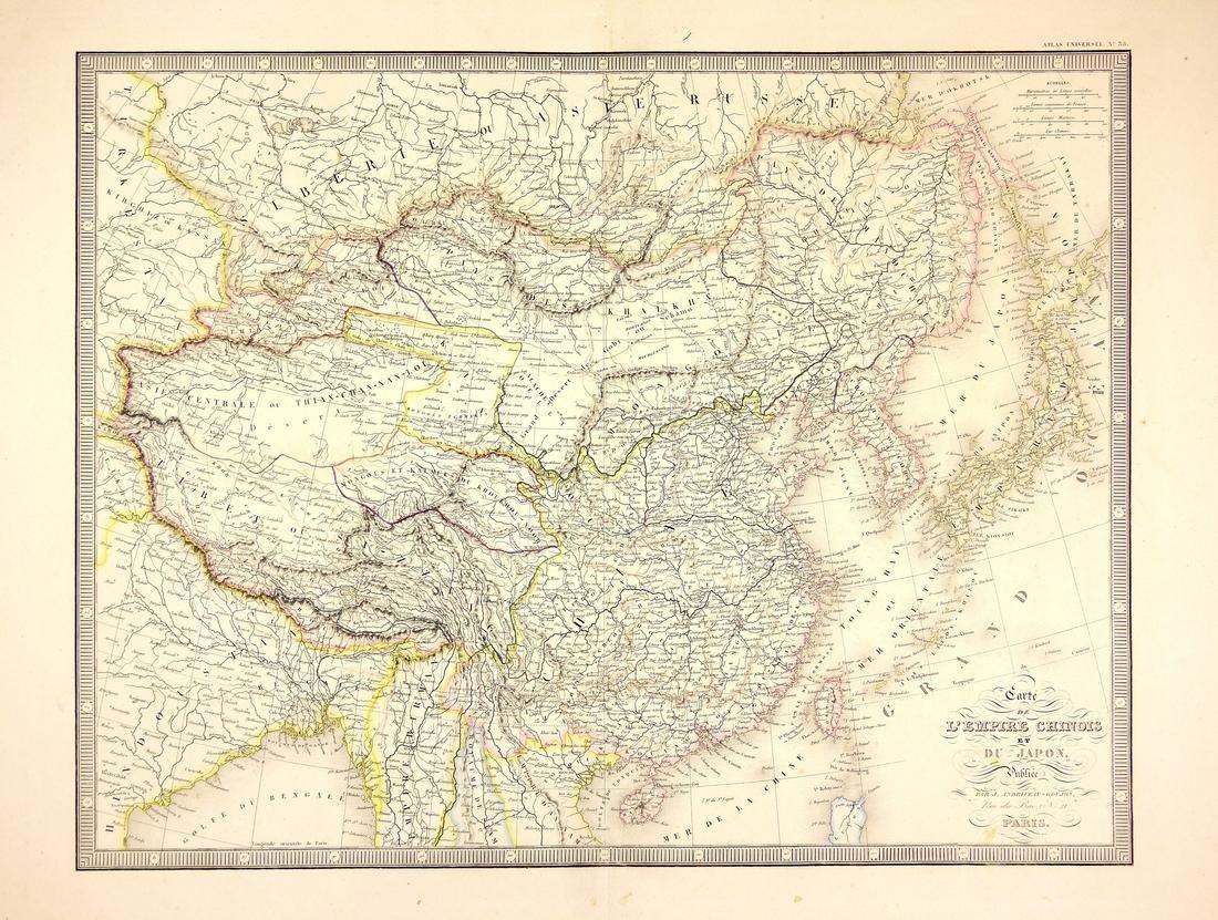 Carte De L'empire Chinois Et Du Japon, 1850