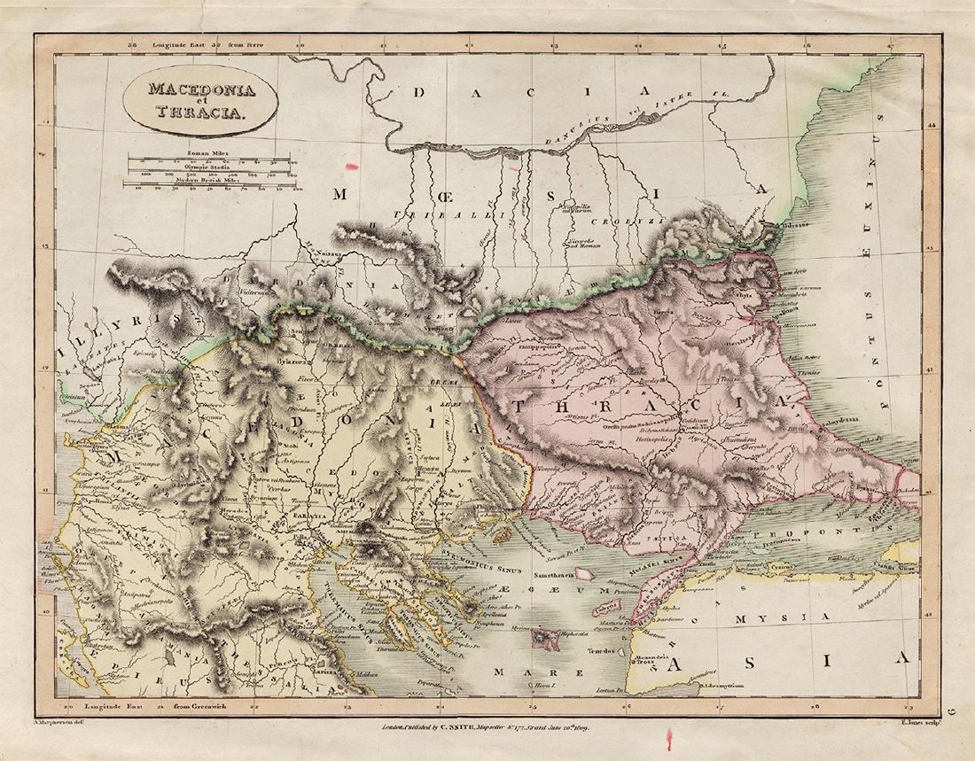 Smith: Map of Macedonia, 1809
