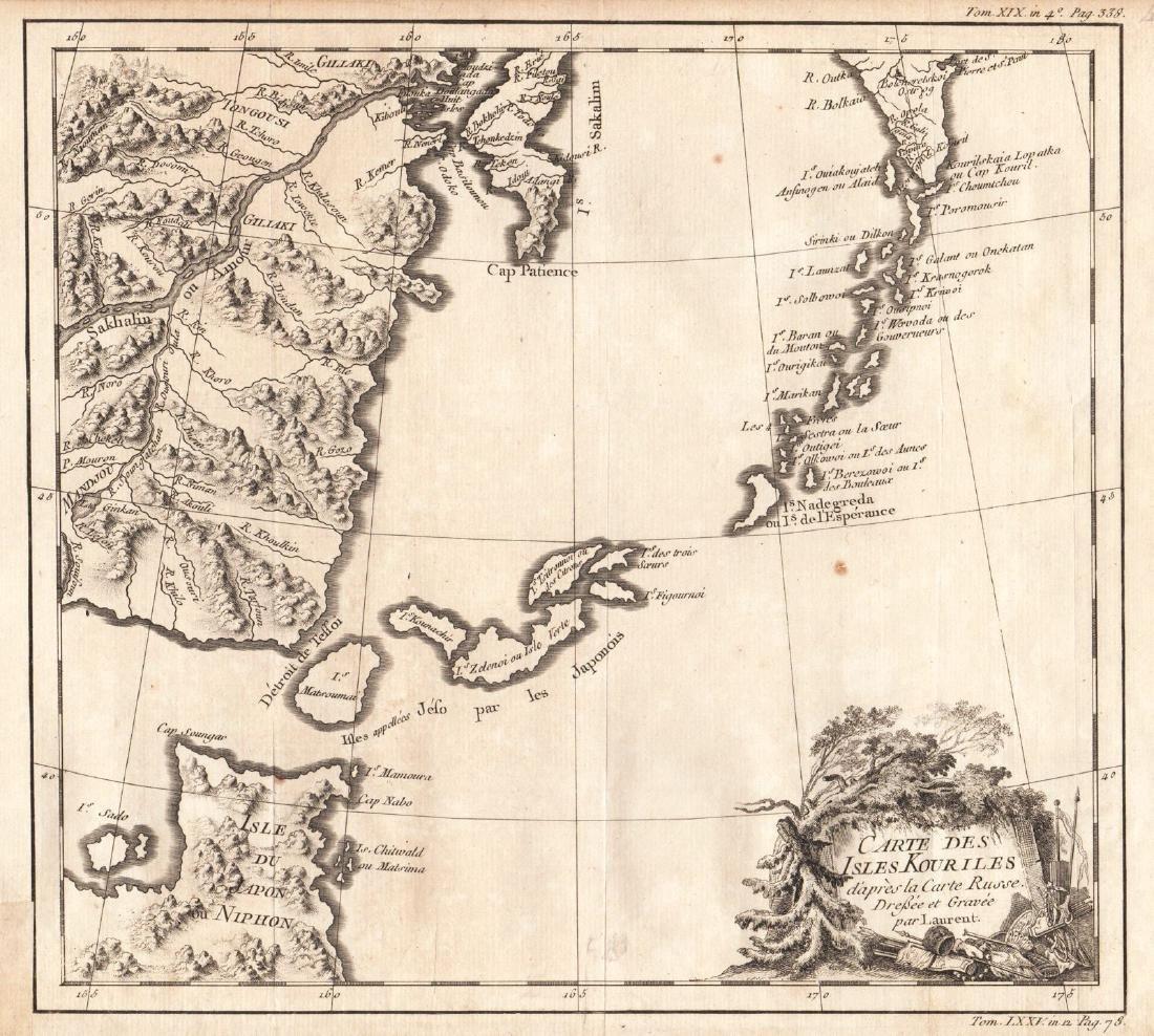 Bellin: Carte des Isles Kouriles, 1750